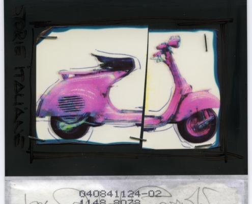 Storie Italiane La fotografia in Italia vespa piaggio polacolor hand worked polaroid pogo manipulation
